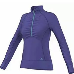 ADIDAS   Pullover 1/2 Zip Climalite Purple Teal